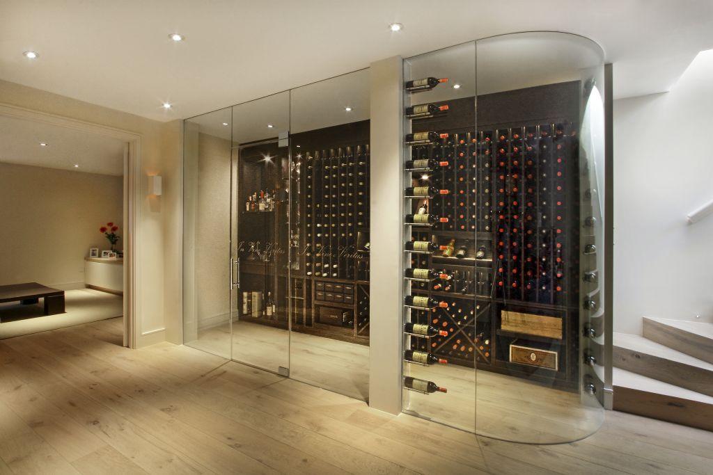Incredible Cellar Maison Bespoke Wine Cellars In London Cave A Vin Armoires Cuisine Modernes Cave A Vin En Verre