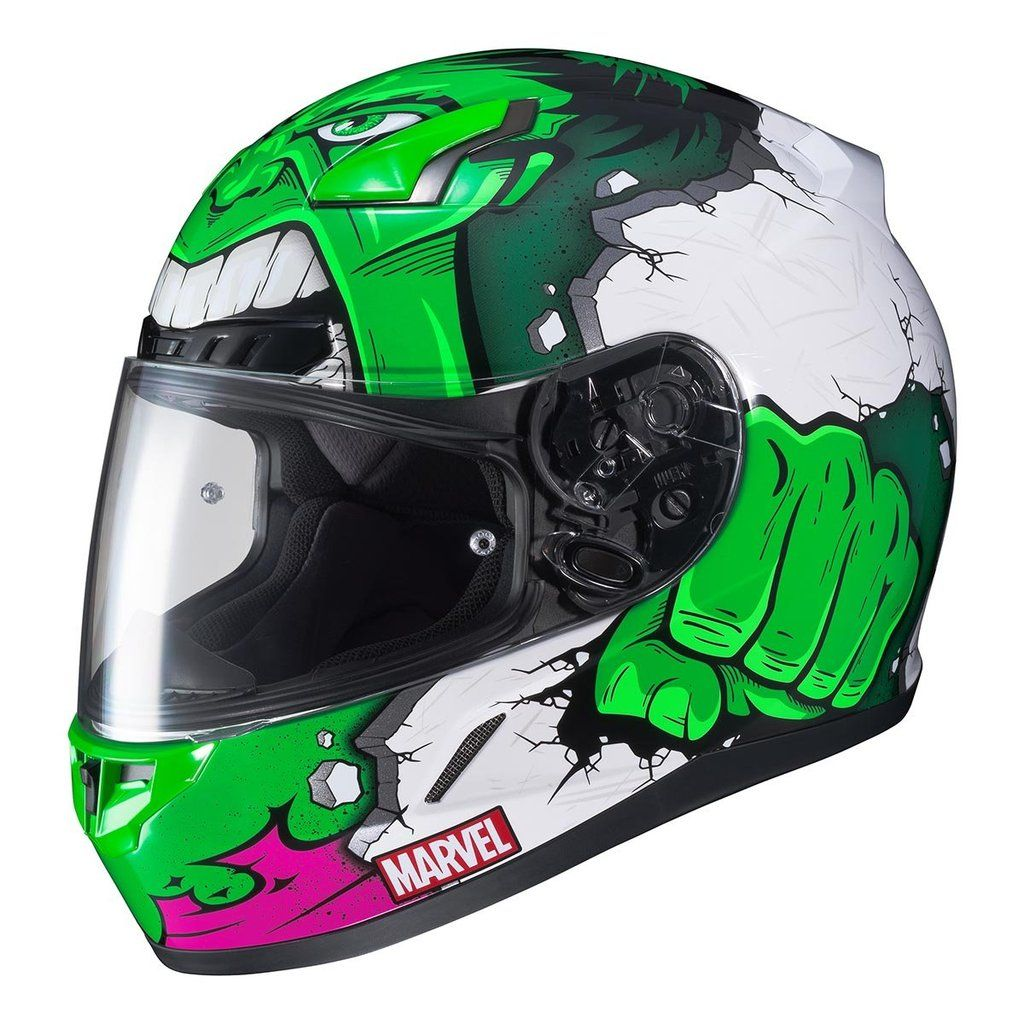 Shop Hjc Marvel Cl 17 Hulk Full Face Motorcycle Helmets By Size Color More From Motorcycler Com Free Shipping On Orde Motorcycle Helmets Helmet Hulk Marvel