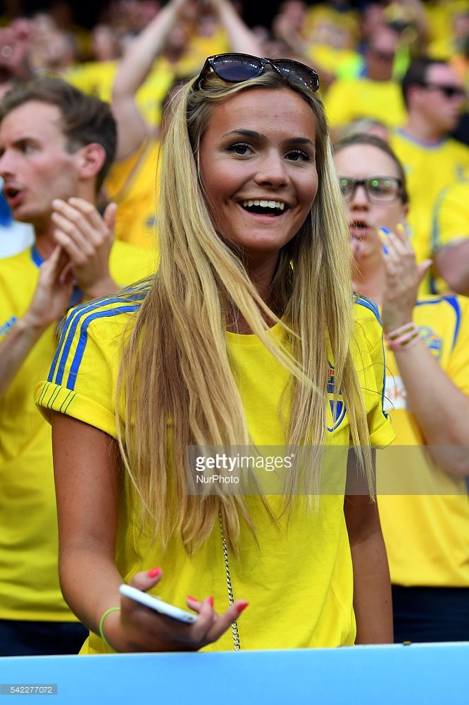 EURO2016 Swedish fan pictured during the UEFA Euro 2016