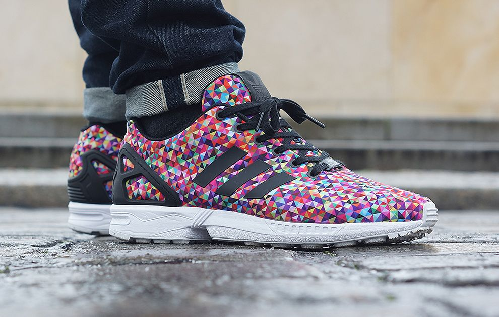 Adidas Zx Flux Galaxy On Feet