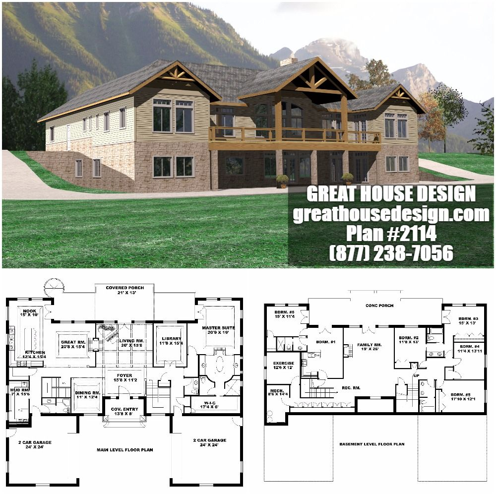 Waterfront. Mountain ICF House Plan # 2114 Toll Free: (877 ... on ranch house plans with angled garage, icf basement home plans, icf ranch home plans,