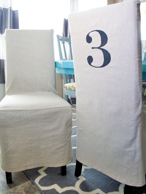 Attractive Make Plain White Slip Covers For Dining Chairs...shorter Than The Image  Though