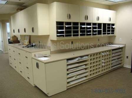 Blueprint Plan Storage Casework Shelves Cubbies