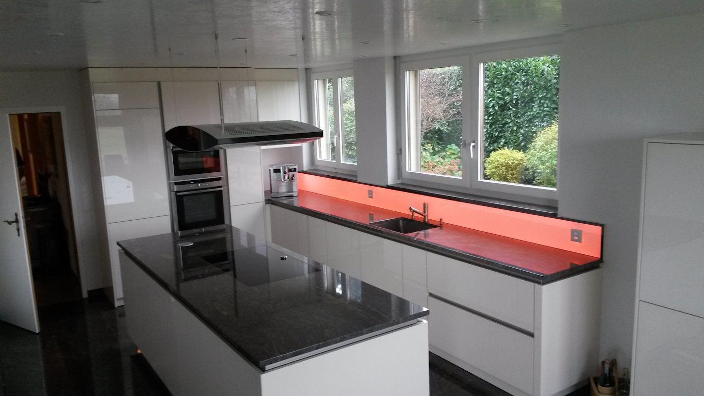 LED RGB Küchenpannel, light wall, beleuchtete Küchenrückwand ...