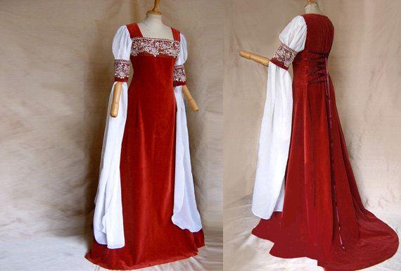 Elven bride dress DALEYA Elf dress of medieval Galadriel Arwen ...