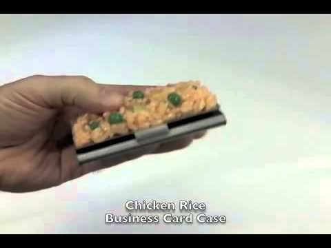 Fake Food Japan - Chicken Rice Business Card Case | Behind