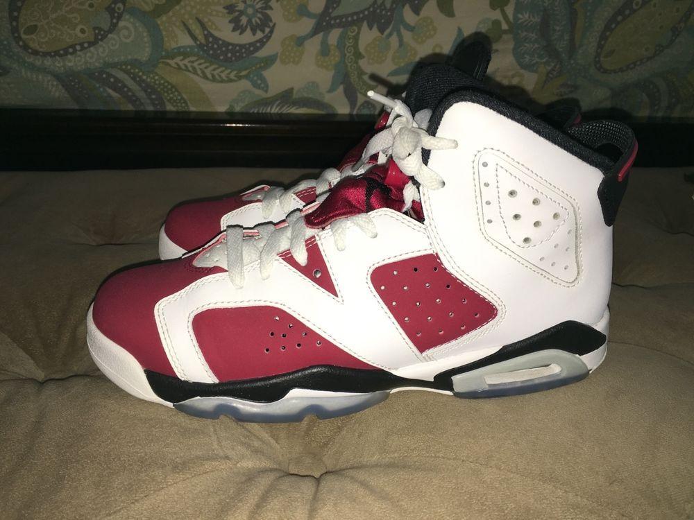 Nike Air Jordan retro VI 6 BG size 6Y Carmine EUC #Nike #BasketballShoes