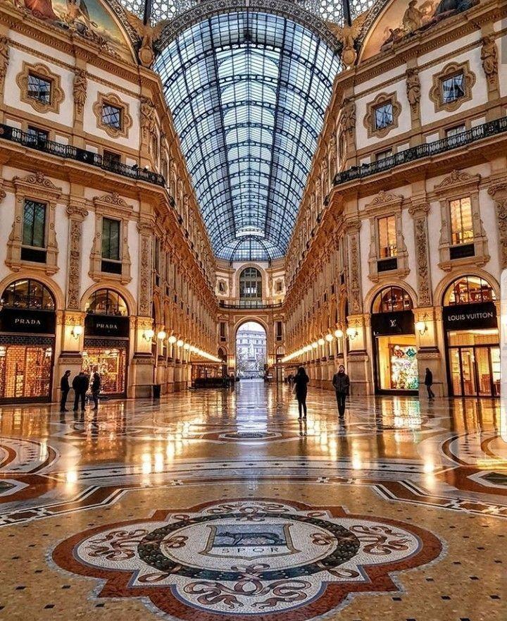 Milano Galleria Vittorio Emanuele Paesaggi Luoghi Italia