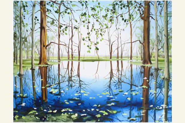 Tamara Piilola, Milky Way, 2015, öljy kankaalle, 230 x 170 cm - kesä 2016 Didrichsenin taidemuseo Helsinki