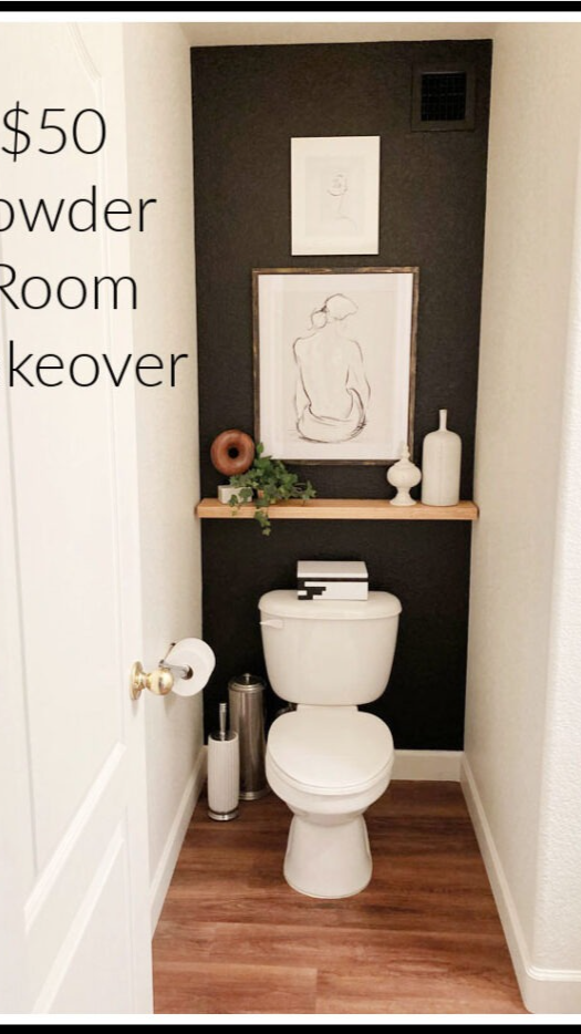 $50 Powder Room Makeover