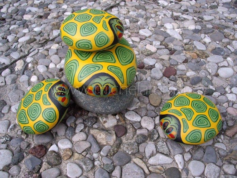 sassi dipinti tartarughe d 39 acqua dolce dipinti