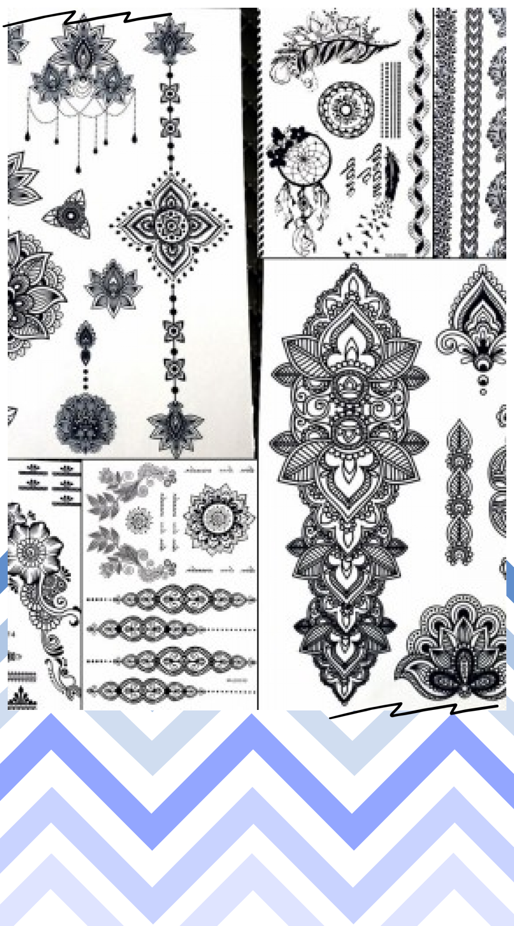 25 Style Indian Black Henna Temporary Tattoo Stickers Women Waterproof Fake Flash Body Art Ear Tatoo Mandala Rose Flower
