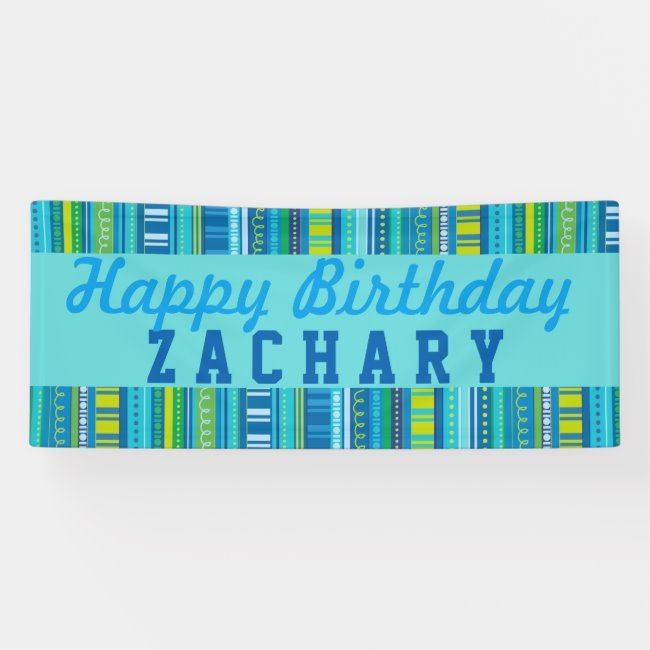 Happy Birthday Colorful Celebration Banner