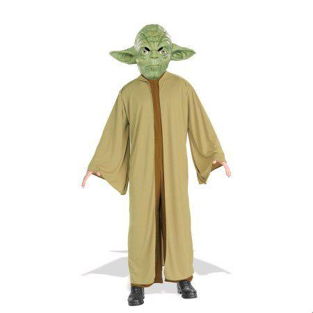 Mask Yoda Star Wars Kids Fancy Dress Movie Character Boys Childrens Costume