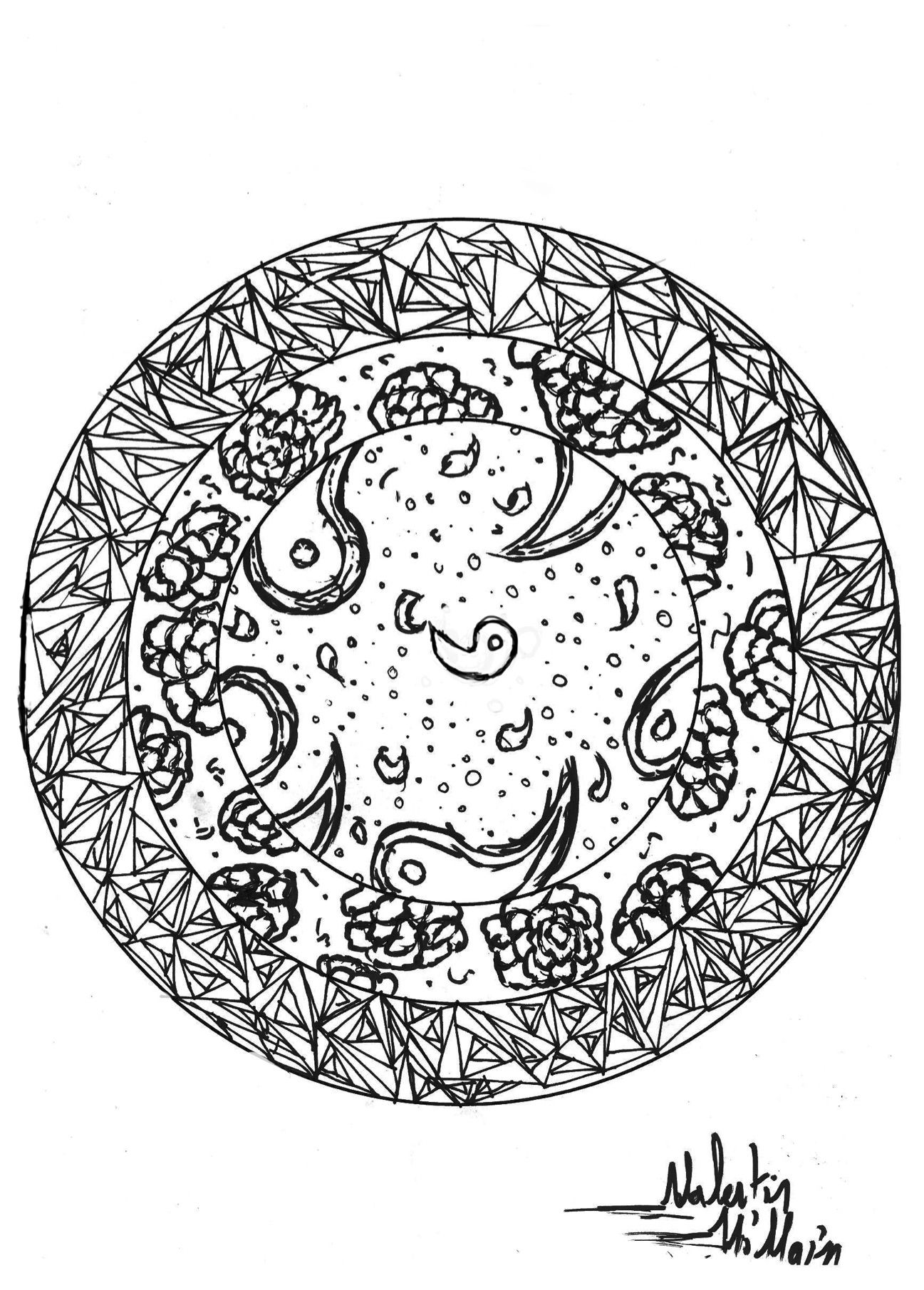 A Mandala Maked By Valentin For Your Coloring Page Time
