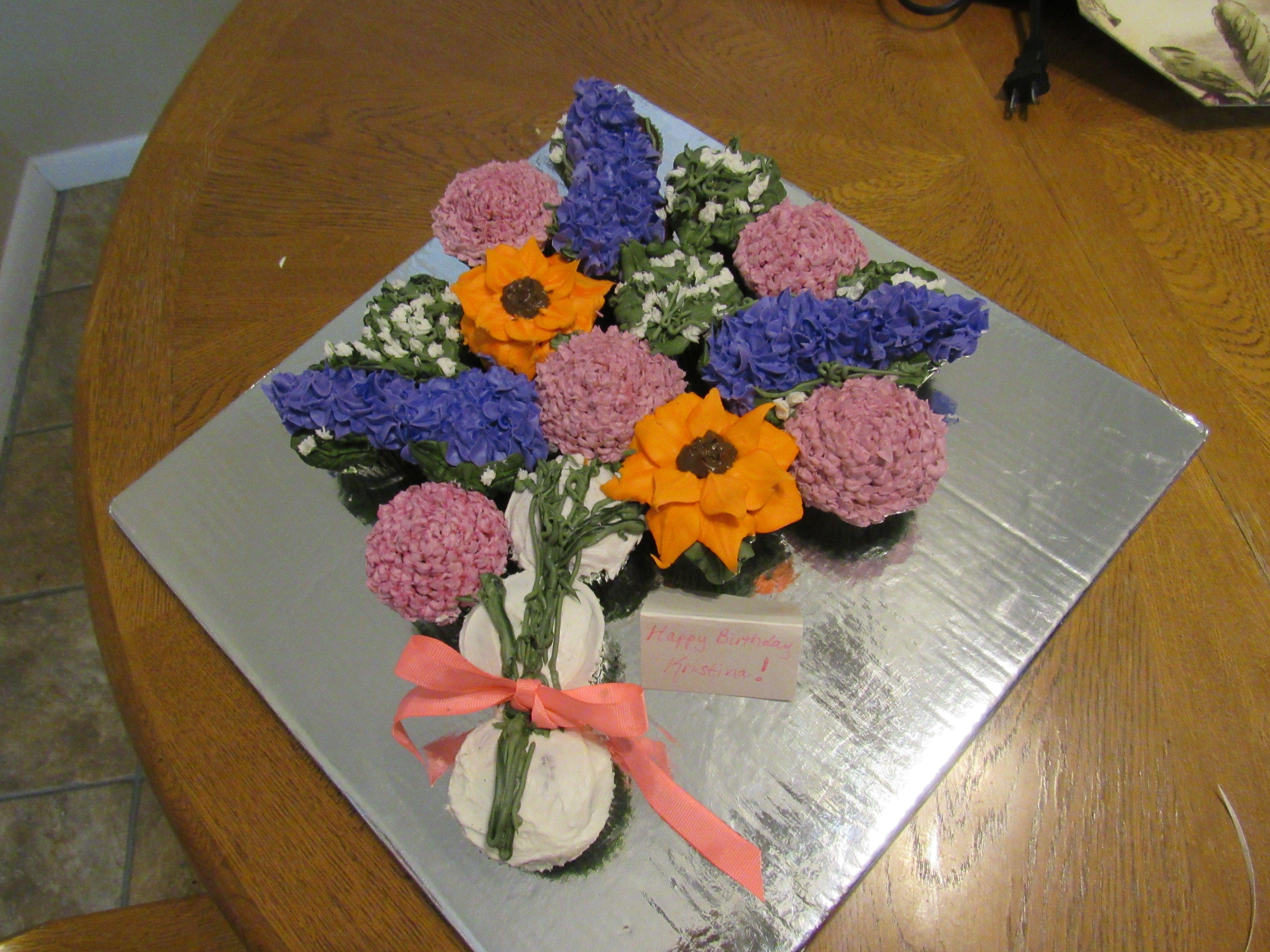 Kristina\'s 9th Birthday - Cupcake Flower Bouquet   Cakes the Good ...