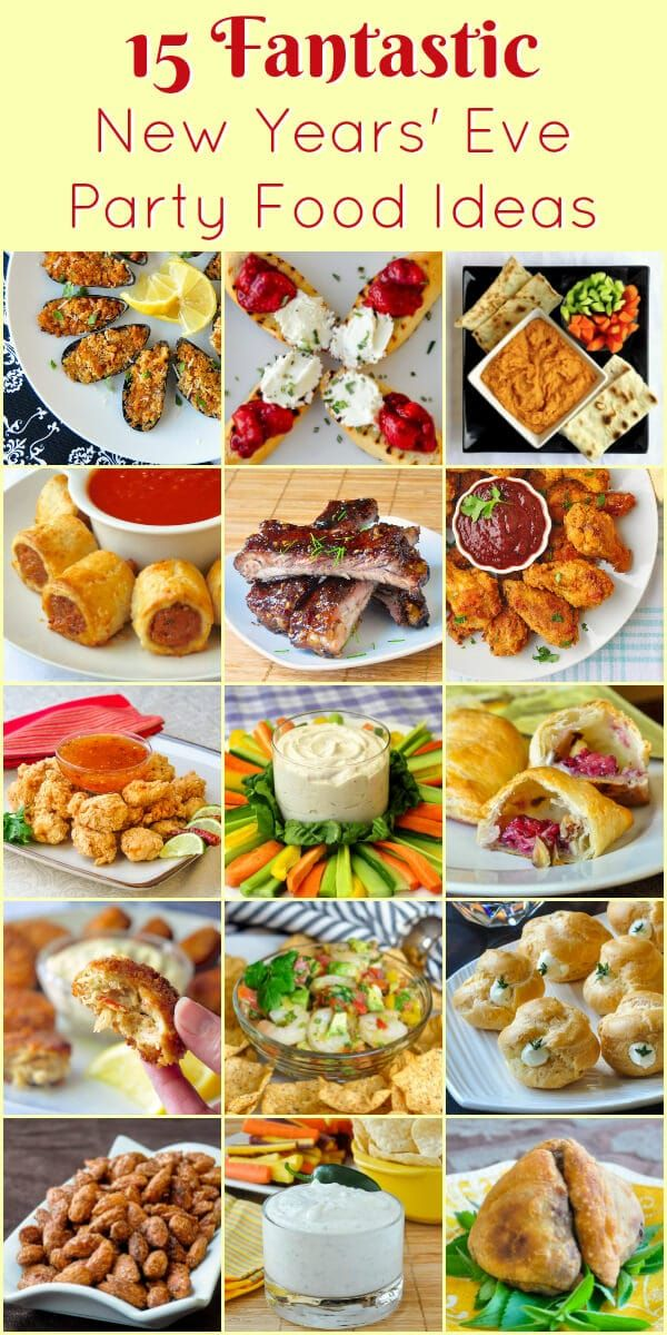 Best New Year's Eve Party Food Ideas - Rock Recipes #newyearsevefood