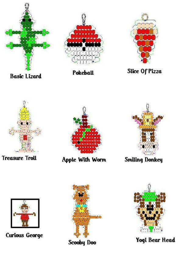 beadmenu | Craftz | Pony bead crafts, Pony bead animals, Pony bead