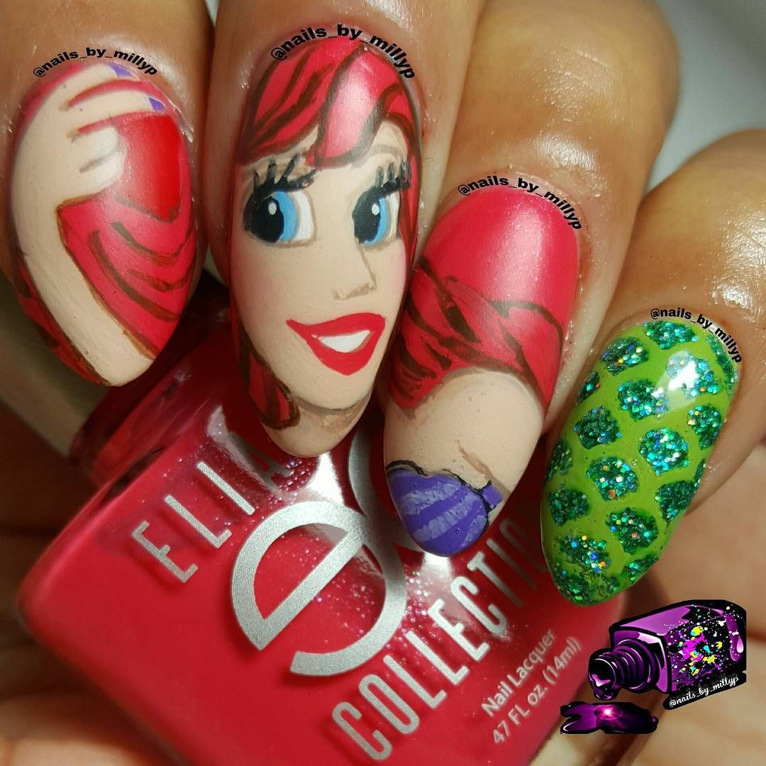 Stiletto Nails Inspired by Disney\'s \