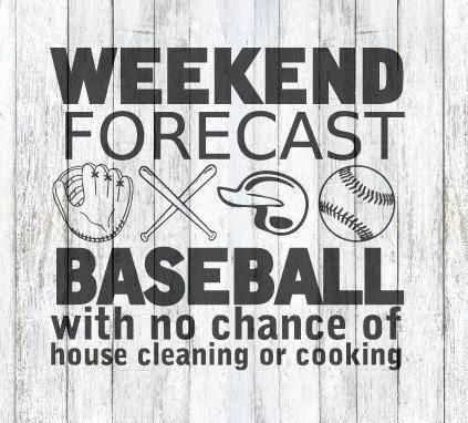 Photo of Weekend Forecast! Baseball! SVG File