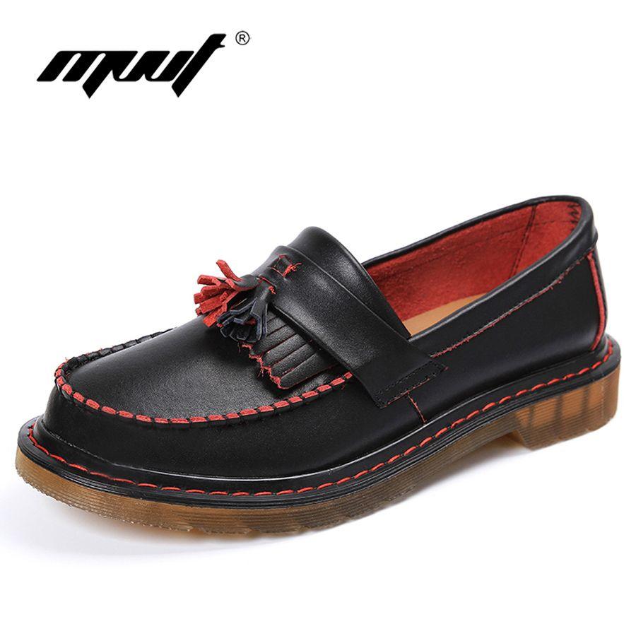 Marca de Moda Unisex casual zapatos oxford de cuero genuino hombres zapatos de zapatos de Plataforma de las mujeres pisos Pisos mujeres de talla grande en Pisos de los hombres de Zapatos en AliExpress.com   Alibaba Group