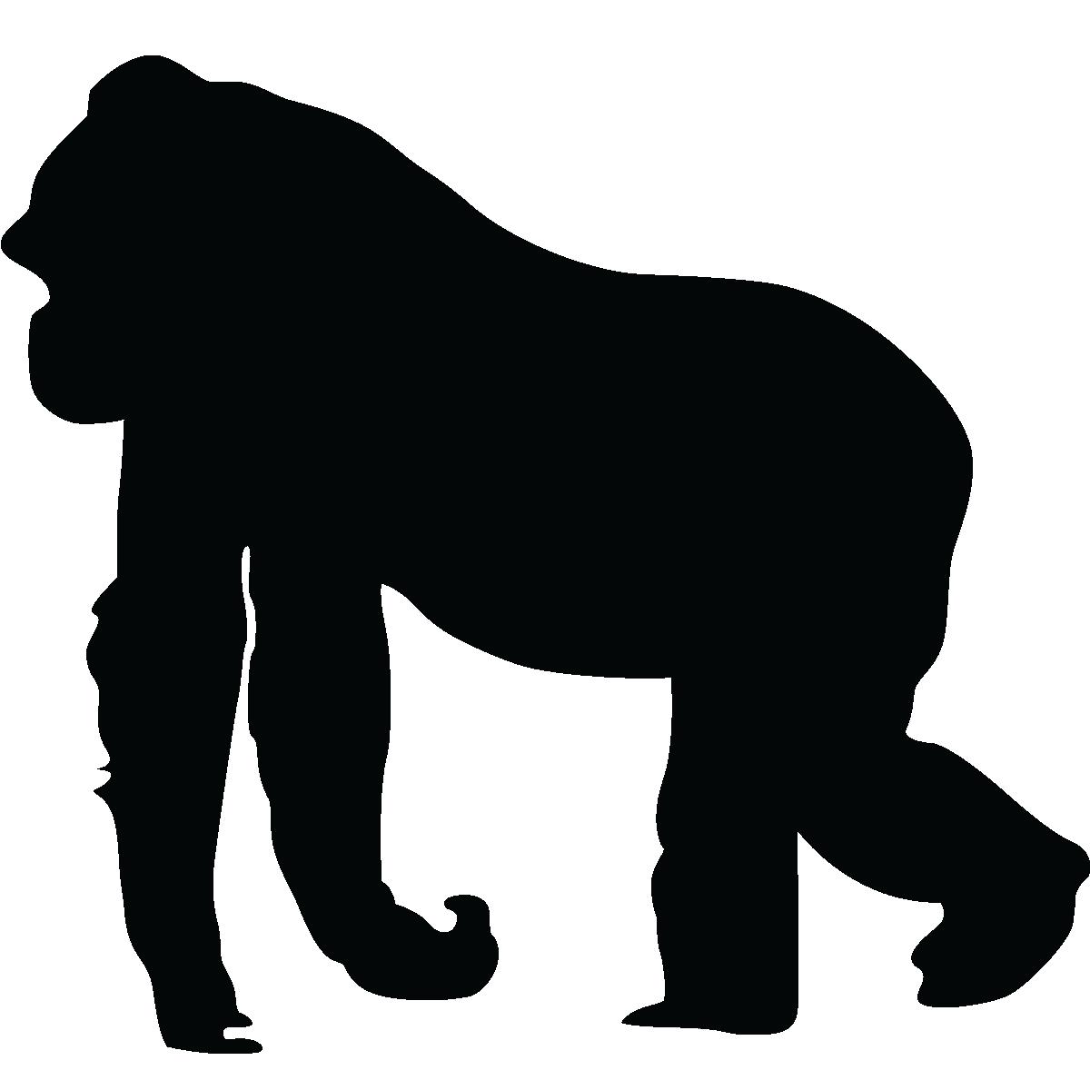 Gorilla Silhouette Sil...