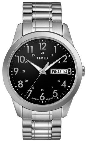 timex men s t2m932 elevated classics dress silver tone stainless timex men s t2m932 elevated classics dress silver tone stainless steel expansion band watch watches