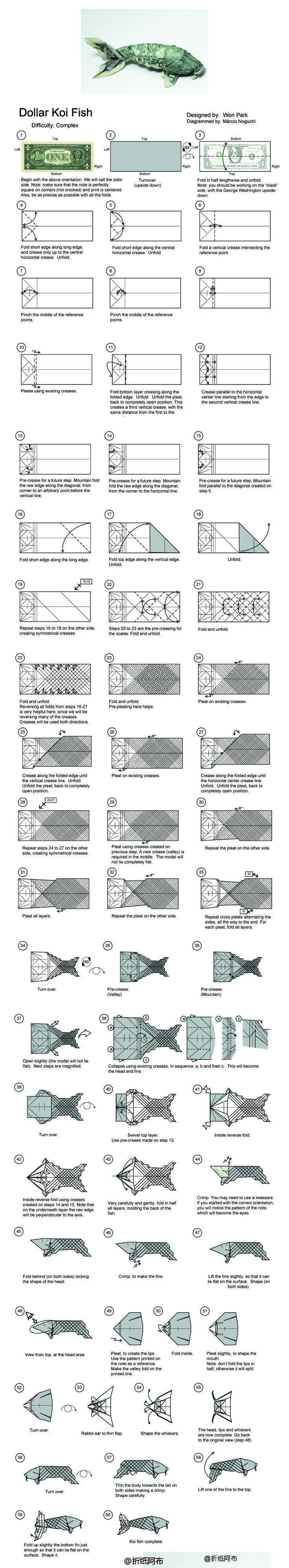 Tutorial: How to make an Origami koi Fish - YouTube | 3996x736