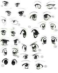 Type Of Manga Eye Sets Anime Eye Drawing How To Draw Anime Eyes Girl Eyes Drawing