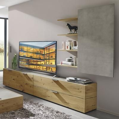 h lsta wohnwand fena eiche furniert wohnzimmer pinterest. Black Bedroom Furniture Sets. Home Design Ideas