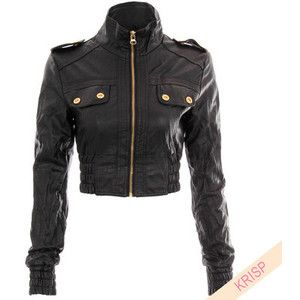 Ladies Women Faux Leather PU Cropped Jacket Coat Spring Summer Colour Bicker