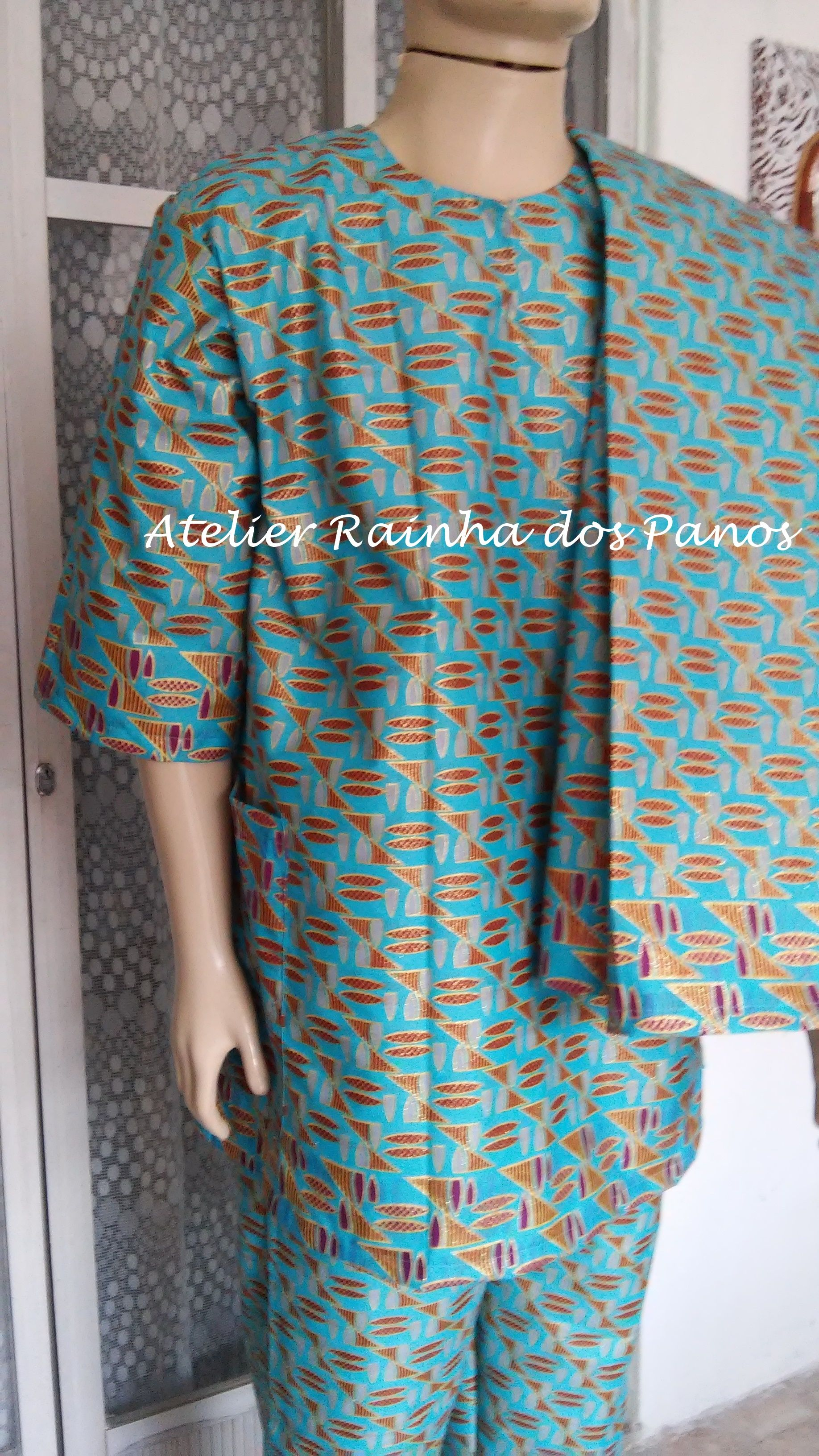 f0ff502e2 conjunto masculino em tecido africano Roupas De Candomblé