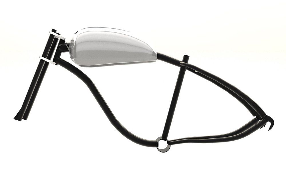 Motorized bicycle Fat tire Frame tank kit 01 | Tired, Bicycling and ...