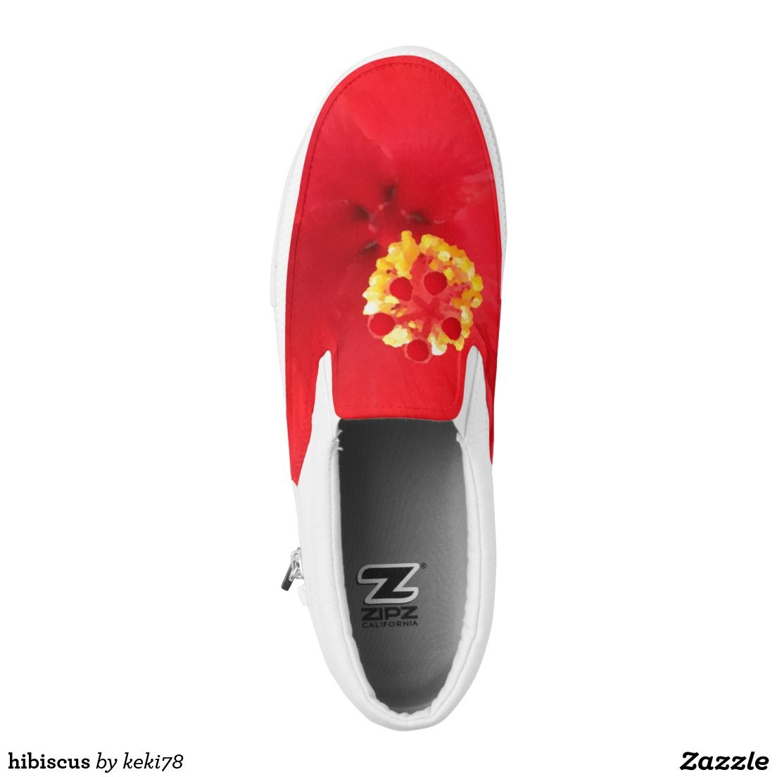 hibiscus printed shoes