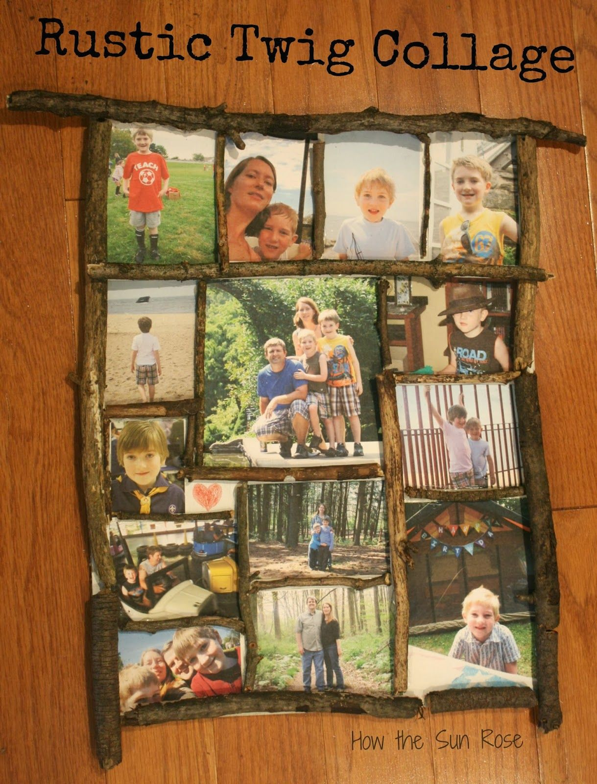 rustic picture frames collages. Plain Rustic How The Sun Rose Rustic Twig Frame Collage Aka The Perfect Gift For My  Husband And Picture Frames Collages B