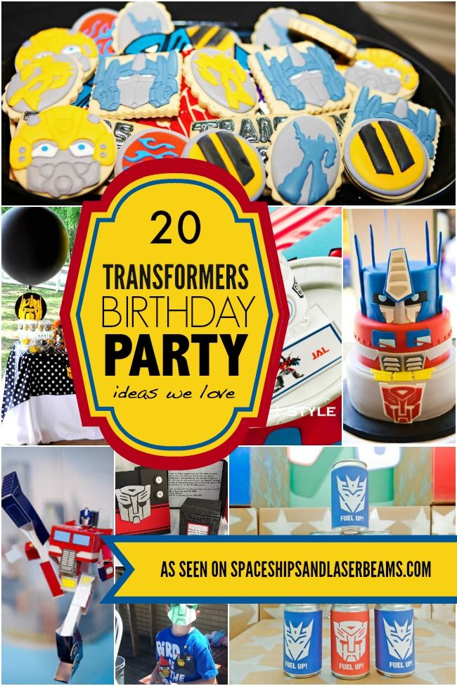 20 Transformers Birthday Party Ideas We Love In 2019