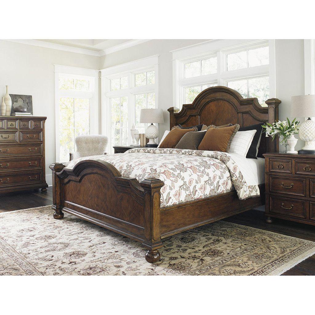 Lexington Coventry Hills Roxbury Panel Bed Pine bedroom