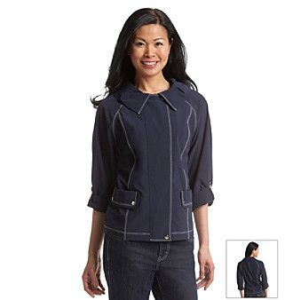Laura Ashley® Contrast Stitch Weekend Jacket