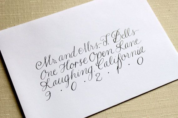 Formal, Modern Calligraphy for Invitation, Wedding, Showers - Formal Invitation Letters