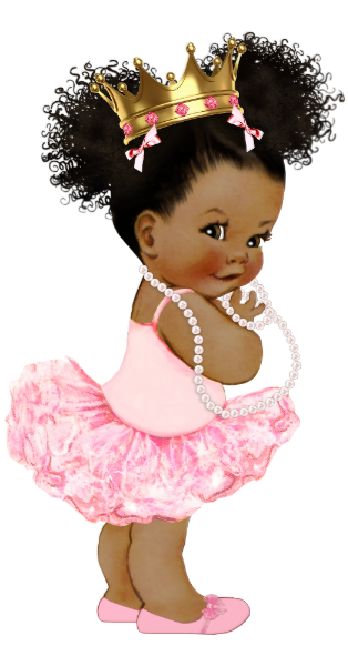 African American Princess Baby Shower Backdrop Zazzle Com Black Baby Art Baby Girl Clipart Baby Afro