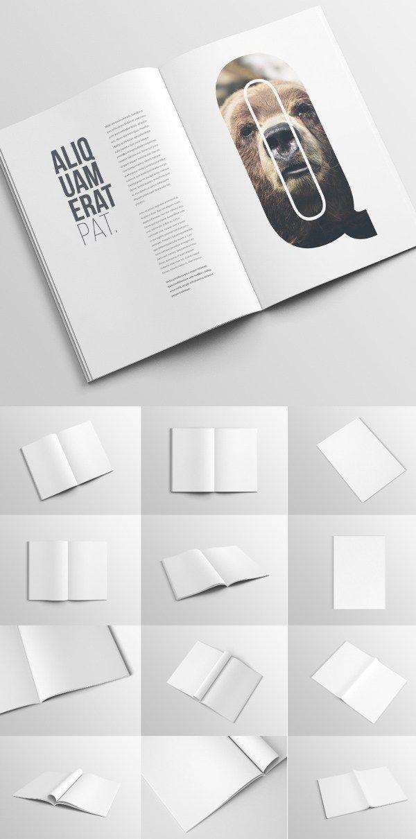 Free A4 Magazine Booklet Mockup Template Templates Brochure Graphic Design Mockup Booklet Design Magazine Mockup