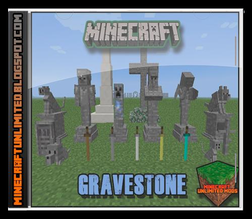 Minecraft Unlimited Mods: Descargar Gravestone Mod para Minecraft 1.12.2