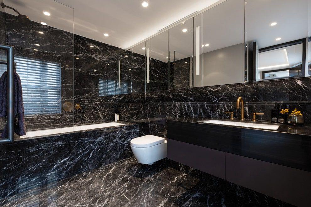 50 Black Primary Bathroom Ideas Photos Black Marble Bathroom Bathroom Design Luxury Bathroom Design
