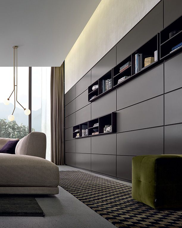 Wall system salon pohi tva nox interier sofa for Presotto industrie mobili spa