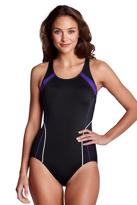 Women s AquaFitness Butterfly Scoop One Piece Swimsuit with Tummy Control  from Lands  End 2202811ea