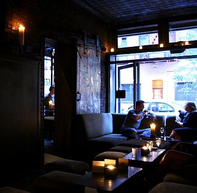 the room - a candlelit, cozy lounge. Great wine spot for a ...