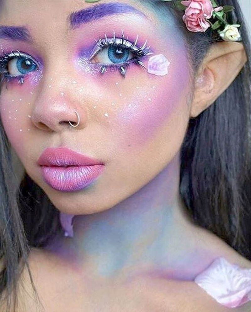 Pretty rainbow fairy DIY Halloween makeup | DIY Halloween Makeup ...