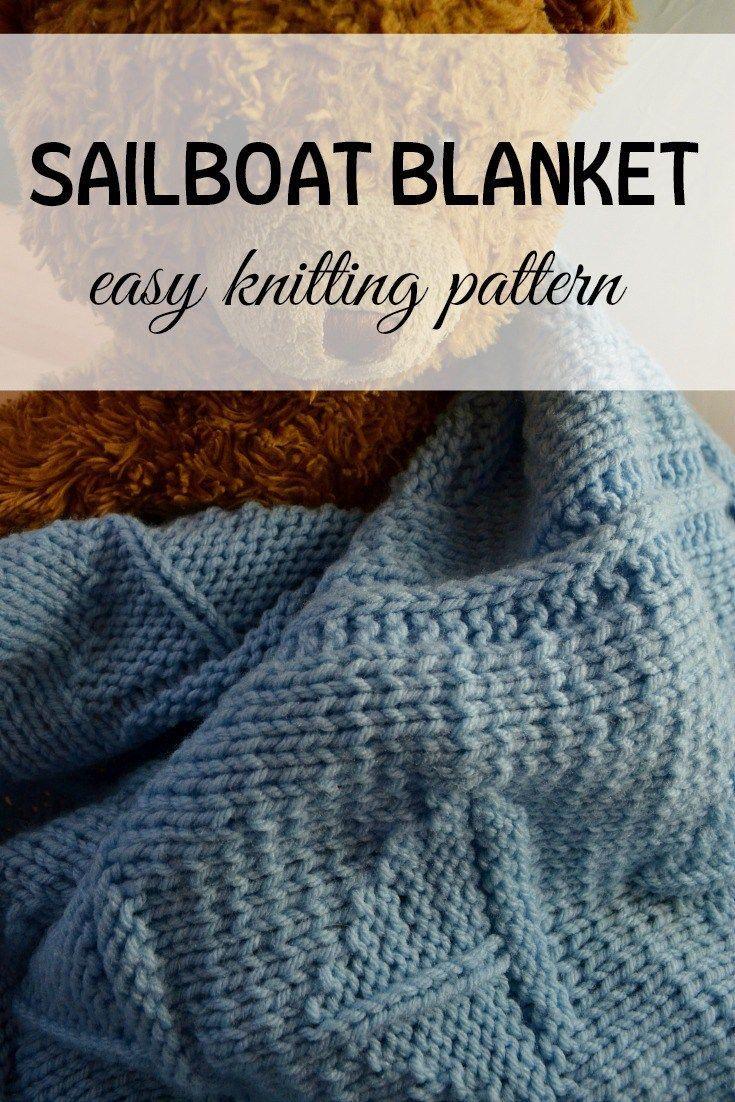 Easy Knitting Pattern Knit This Sailboat Baby Blanket | Knitting ...