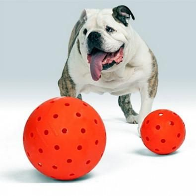 The Big Daddy 10 Unbreakoball Large Dog Toy Bright Orange