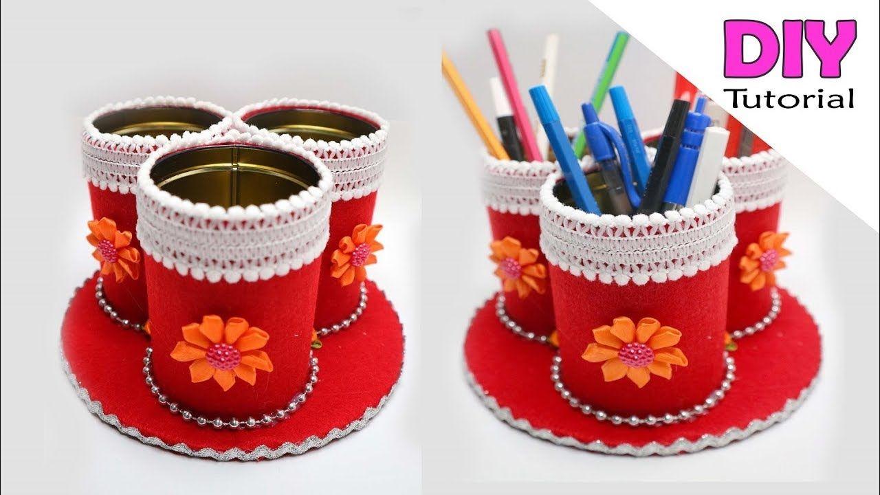 Ide Kreatif Kaleng Bekas Rokok Jadi Tempat Pensil Kaleng Bekas